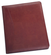burgundy bonded leather padfolio cover