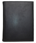 black faux leather letter size padfolio