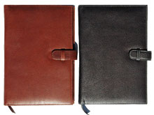 outside views of forever journal junior pad holders in black and British tan