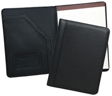 british tan and black leather junior padfolios