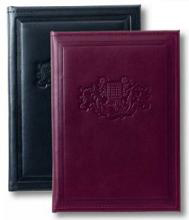 black and Burgundy leather padfolios