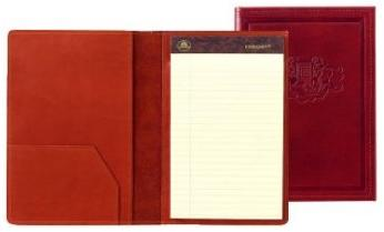 inside and outside views of softcover leather padfolios