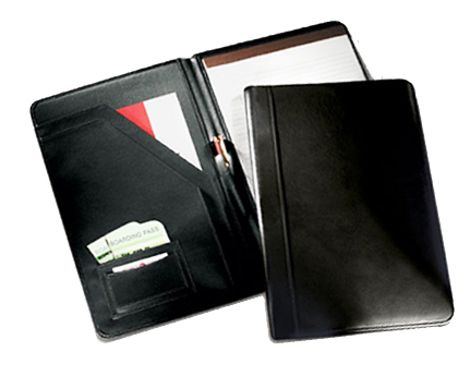 black leather legal pad holder leather padfolios personalized - Resume Holder
