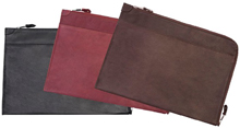 black, brick red or brown leather underarm document case