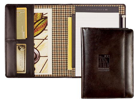 Inside And Outside Views Of Mahogany Clic Leather Portfolio