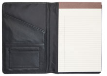 Classic junior padfolio in premium black polyurethane