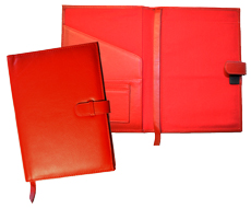 red leather forever junior padfolios