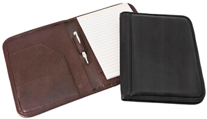 brown and black small cowhide leather padfolios